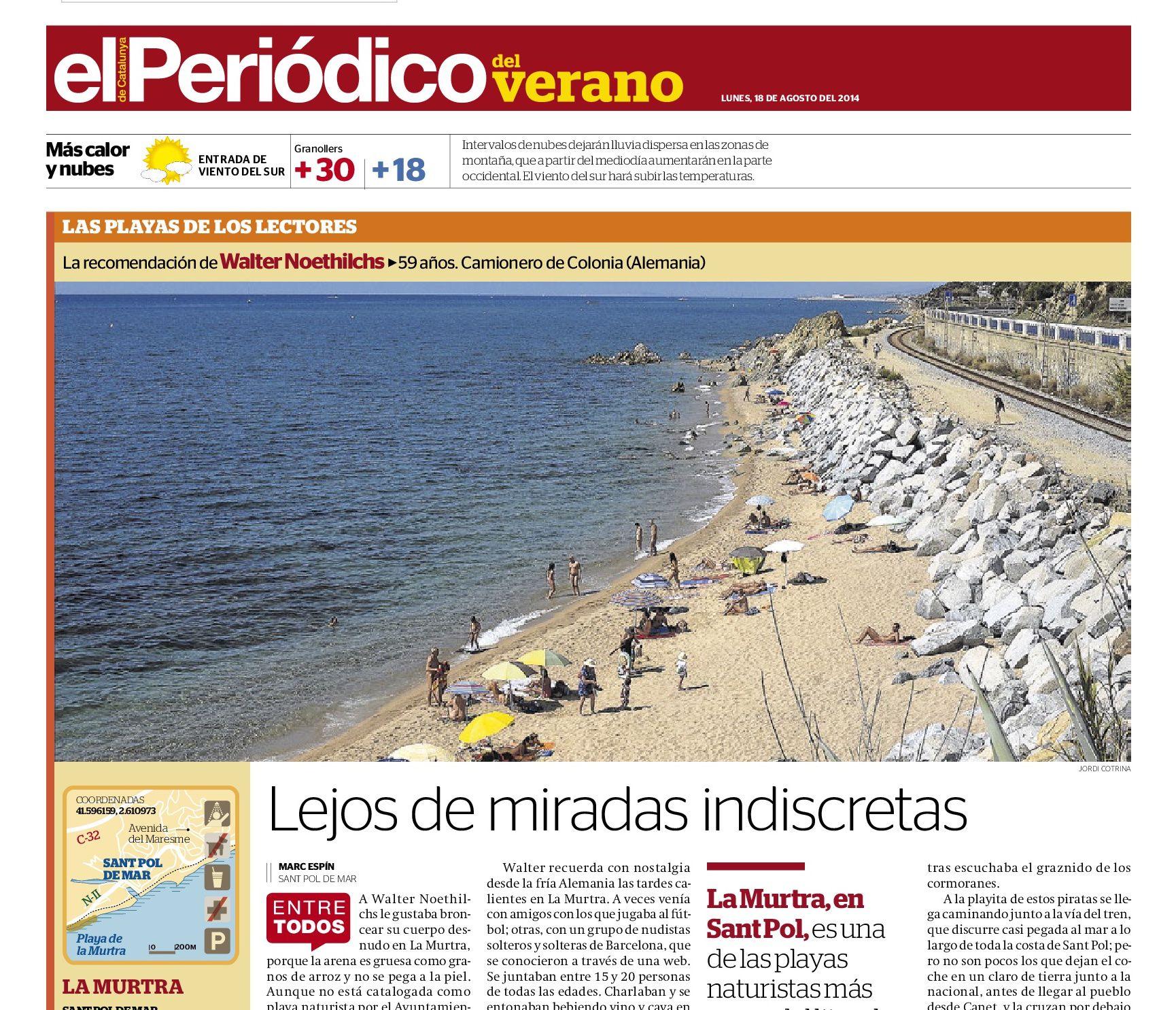 Playa La Mutra, Sant Pol de Mar | Lejos de miradas indiscretas