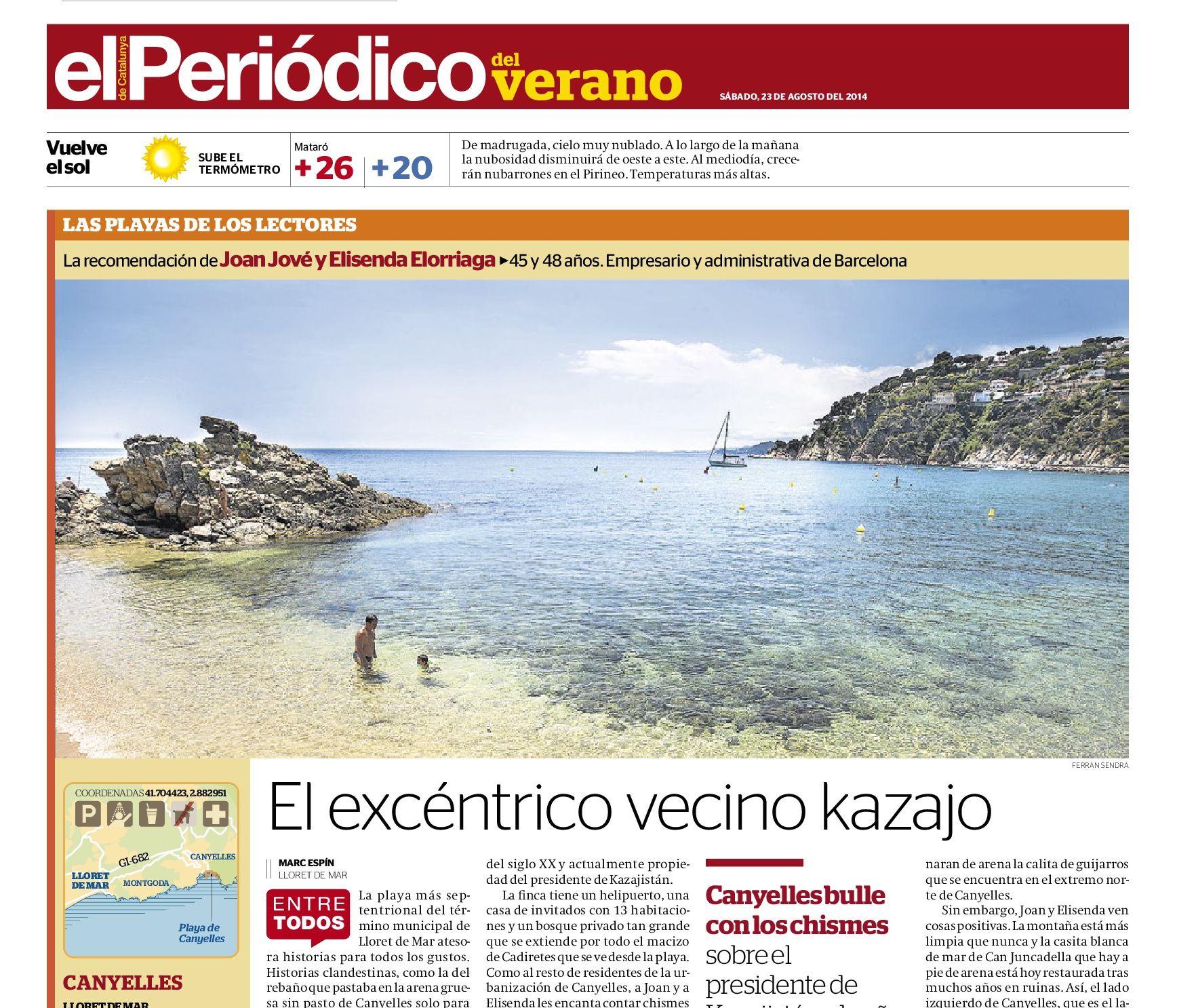 Playa de Canyelles, Lloret de Mar | El excéntrico vecino kazajo