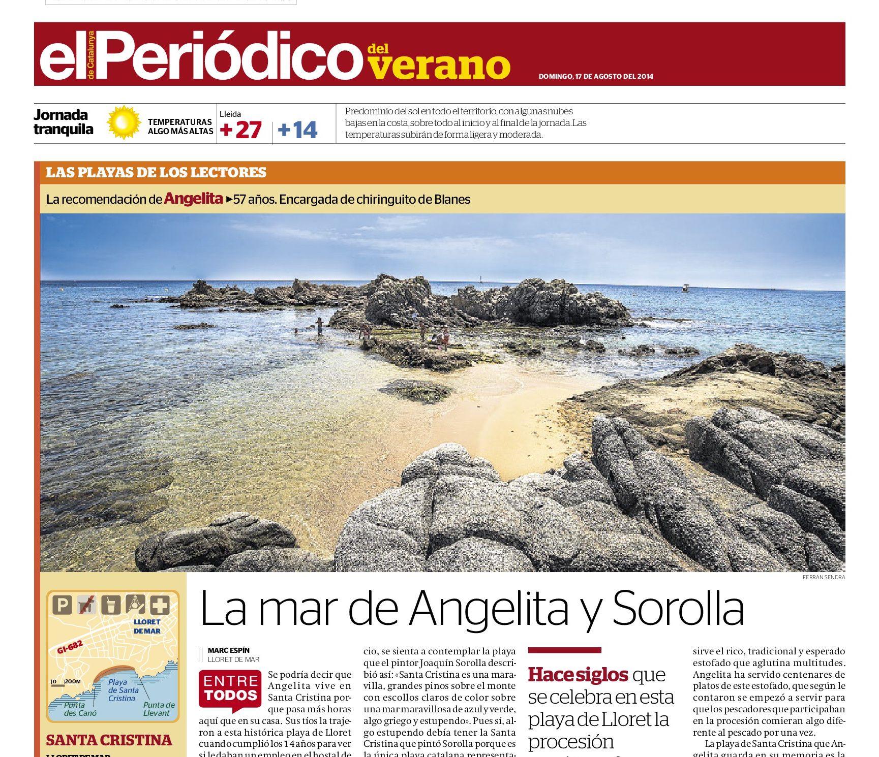 Playa de Santa Cristina, Lloret de Mar | La mar de Angelita y Sorolla