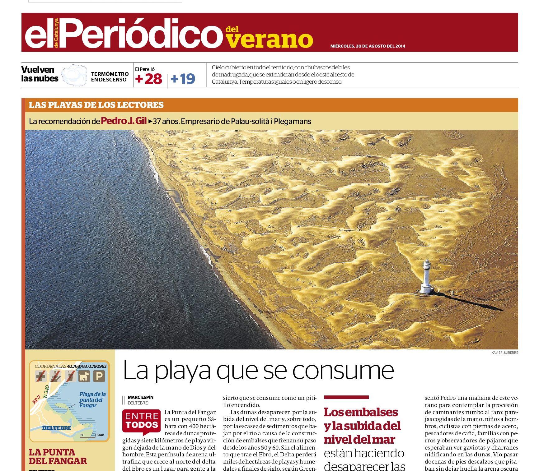 La Punta del Fangar, Deltebre | La playa que se consume