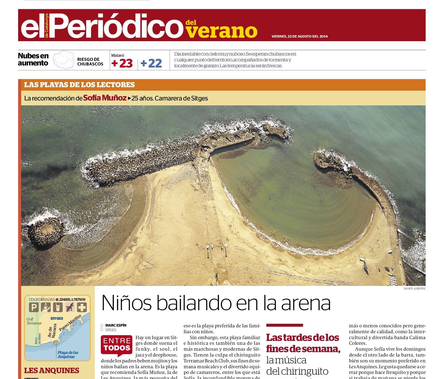 Playa de Les Anquines, Sitges | Niños bailando en la arena